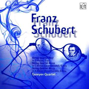 Albumcover Franz Schubert - String Quartet No.7 in D, D.94, String Quartet No.12  in C Minor (Quartettsatz), D.703 String Quartet No.13 in A Minor, D. 804 (Rosamunde)