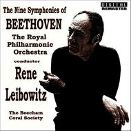 Albumcover The Royal Philharmonic Orchestra with The Beecham Choral Society ,Conductor Rene Leibowitz - The Nine Symphonies of Beethoven