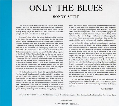 Sonny Stitt - Sextet and Quintet - Only the Blues