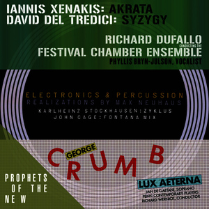 Albumcover Various Artists - Prophets of the New (Music of Xenakis, Del Tredici, Stockhausen, Cage and Crumb)