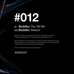 Albumcover Boddika - You Tell Me / Breezin