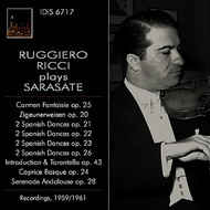 Ruggiero Ricci - Sarasate: Orchestral & Chamber Works