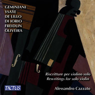 Alessandro Cazzato - Rewritings for Solo Violin