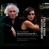 Jan Vermeulen & Veerle Peeters - Schubert: Works for Four Hands, Vol. 3 - Sonata in C Major, D. 823 / 6 Polonaisen, D. 824